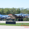 615 - B17 Flying Fortress returns and taxies for parking at the South East Iowa Air Show in Burlington Iowa