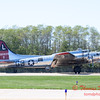 616 - B17 Flying Fortress returns and taxies for parking at the South East Iowa Air Show in Burlington Iowa