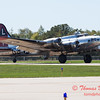 613 - B17 Flying Fortress returns and taxies for parking at the South East Iowa Air Show in Burlington Iowa