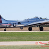 621 - B17 Flying Fortress returns and taxies for parking at the South East Iowa Air Show in Burlington Iowa