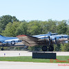 614 - B17 Flying Fortress returns and taxies for parking at the South East Iowa Air Show in Burlington Iowa