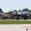 612 - B17 Flying Fortress returns and taxies for parking at the South East Iowa Air Show in Burlington Iowa