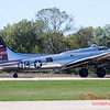 620 - B17 Flying Fortress returns and taxies for parking at the South East Iowa Air Show in Burlington Iowa