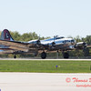 611 - B17 Flying Fortress returns and taxies for parking at the South East Iowa Air Show in Burlington Iowa