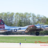 617 - B17 Flying Fortress returns and taxies for parking at the South East Iowa Air Show in Burlington Iowa