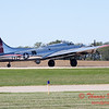 622 - B17 Flying Fortress returns and taxies for parking at the South East Iowa Air Show in Burlington Iowa
