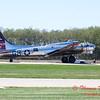 618 - B17 Flying Fortress returns and taxies for parking at the South East Iowa Air Show in Burlington Iowa