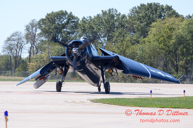 581 - TBM returns and taxies for parking at the South East Iowa Air Show in Burlington Iowa