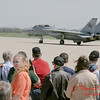 25 - The arrival of a F14 Tomcat completing its last flight -  Bloomington Illinois - April 13 2006