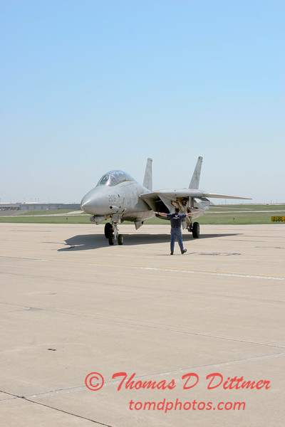 14 - The arrival of a F14 Tomcat completing its last flight -  Bloomington Illinois - April 13 2006