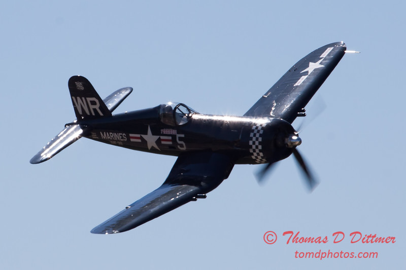 450 - F4U Corsair Fly By at the South East Iowa Air Show in Burlington Iowa