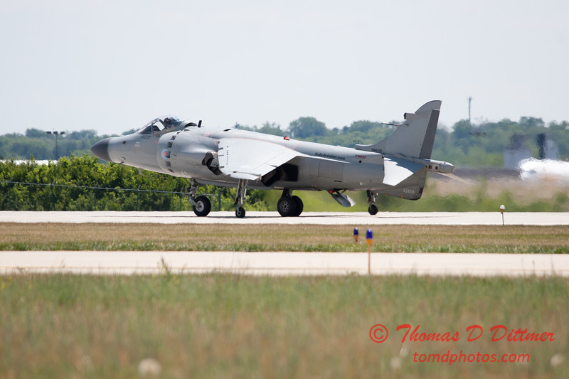 421 -  Art Nalls demonstrates the capabilities of the F/A 2 Sea Harrier at the 2012 Rockford Airfest - Chicago Rockford International Airport - Rockford Illinois - Sunday June 3rd 2012