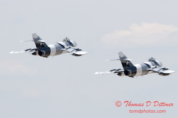 722 - The Mig 17 Formation Departure of the Black Diamond Jet Team at the 2012 Rockford Airfest - Chicago Rockford International Airport - Rockford Illinois - Sunday June 3rd 2012