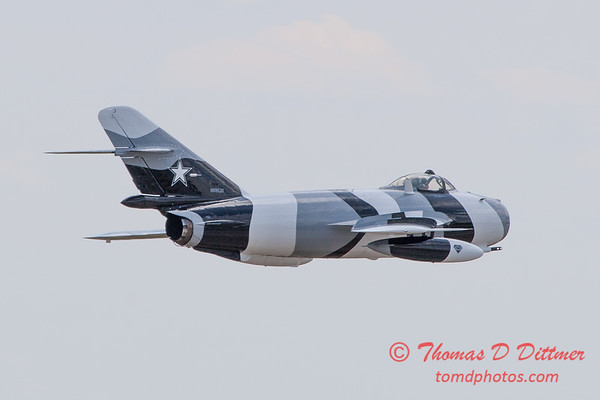 877 - Mig 17 of the Black Diamond Jet Team at the 2012 Rockford Airfest - Chicago Rockford International Airport - Rockford Illinois - Sunday June 3rd 2012