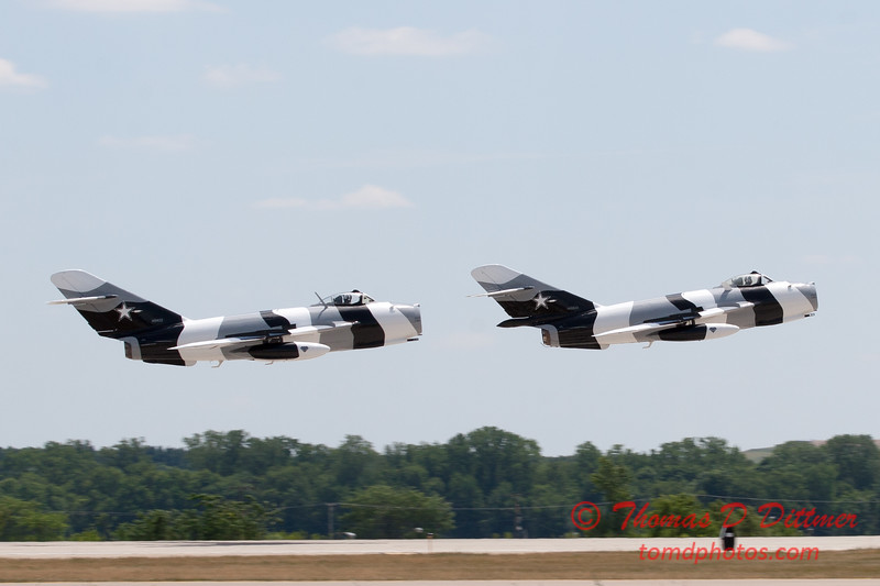 710 - The Mig 17 Formation Departure of the Black Diamond Jet Team at the 2012 Rockford Airfest - Chicago Rockford International Airport - Rockford Illinois - Sunday June 3rd 2012