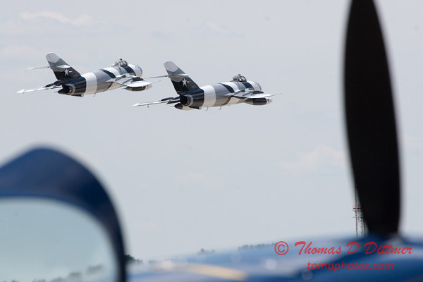 719 - The Mig 17 Formation Departure of the Black Diamond Jet Team at the 2012 Rockford Airfest - Chicago Rockford International Airport - Rockford Illinois - Sunday June 3rd 2012
