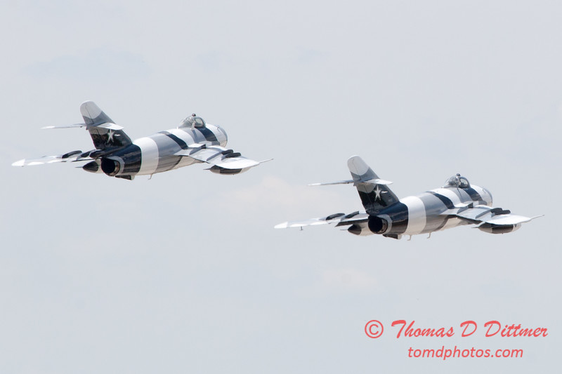 721 - The Mig 17 Formation Departure of the Black Diamond Jet Team at the 2012 Rockford Airfest - Chicago Rockford International Airport - Rockford Illinois - Sunday June 3rd 2012