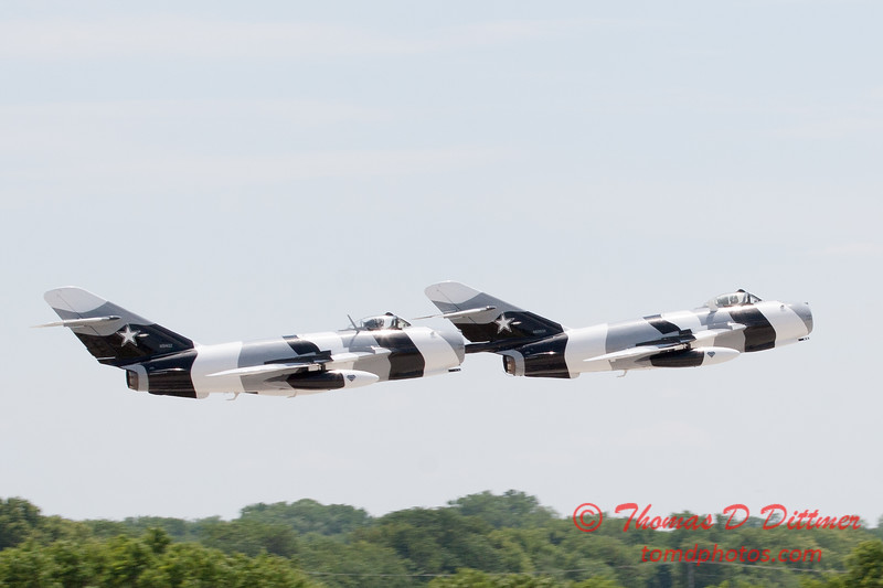 712 - The Mig 17 Formation Departure of the Black Diamond Jet Team at the 2012 Rockford Airfest - Chicago Rockford International Airport - Rockford Illinois - Sunday June 3rd 2012