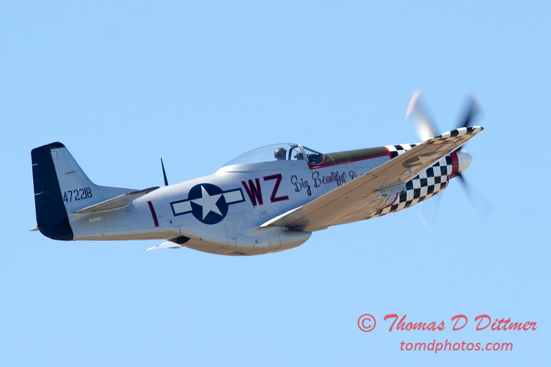 536 - P51 Mustang Fly By at the South East Iowa Air Show in Burlington Iowa