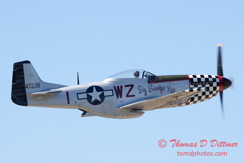 432 - P51 Mustang departure at the South East Iowa Air Show in Burlington Iowa