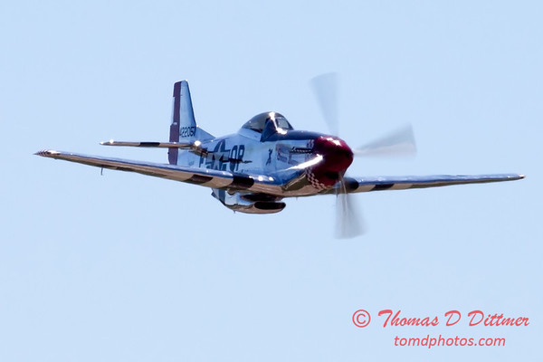 444 - P51 Mustang departure at the South East Iowa Air Show in Burlington Iowa