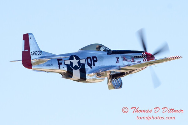443 - P51 Mustang departure at the South East Iowa Air Show in Burlington Iowa