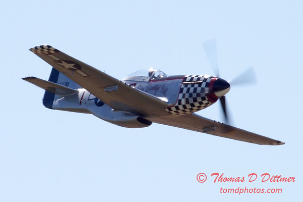529 - P51 Mustang Fly By at the South East Iowa Air Show in Burlington Iowa