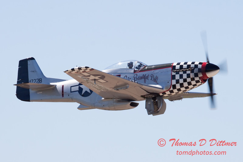 427 - P51 Mustang departure at the South East Iowa Air Show in Burlington Iowa