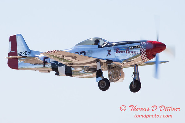437 - P51 Mustang departure at the South East Iowa Air Show in Burlington Iowa