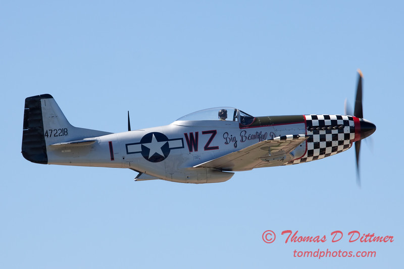 430 - P51 Mustang departure at the South East Iowa Air Show in Burlington Iowa