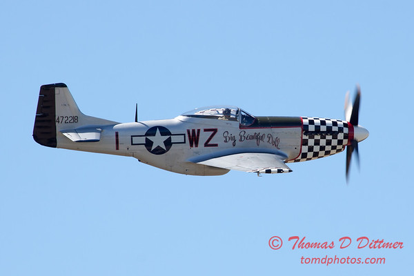 557 - P51 Mustang Fly By at the South East Iowa Air Show in Burlington Iowa