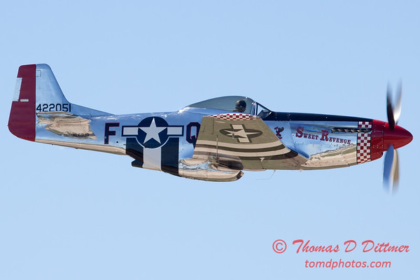 447 - P51 Mustang departure at the South East Iowa Air Show in Burlington Iowa