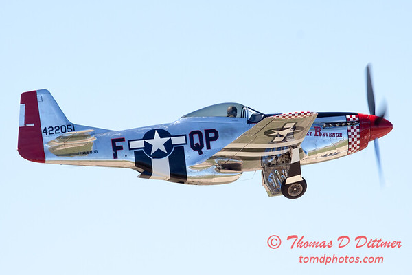 440 - P51 Mustang departure at the South East Iowa Air Show in Burlington Iowa