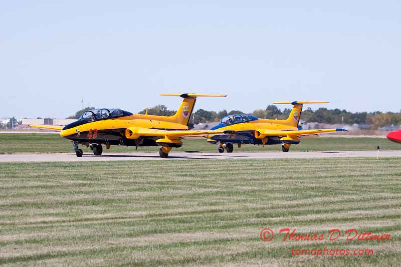 274 - The University of Iowa Operator Performance Laboratory L29 Delphins taxi for departure at the South East Iowa Air Show in Burlington Iowa