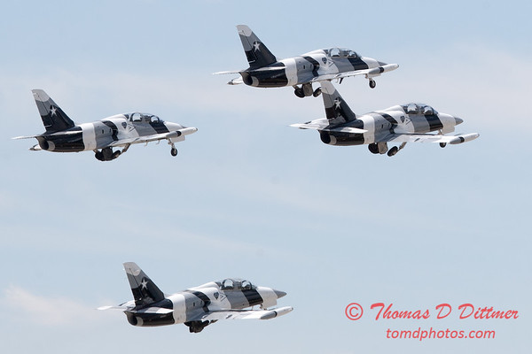 706 - The L39 Formation Departure of the Black Diamond Jet Team at the 2012 Rockford Airfest - Chicago Rockford International Airport - Rockford Illinois - Sunday June 3rd 2012