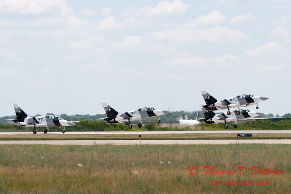 699 - The L39 Formation Departure of the Black Diamond Jet Team at the 2012 Rockford Airfest - Chicago Rockford International Airport - Rockford Illinois - Sunday June 3rd 2012