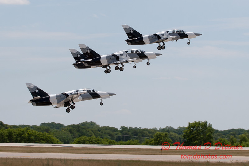 701 - The L39 Formation Departure of the Black Diamond Jet Team at the 2012 Rockford Airfest - Chicago Rockford International Airport - Rockford Illinois - Sunday June 3rd 2012