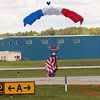 120 - Liberty Parachute Team member descends into Wings over Waukegan 2012