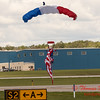 118 - Liberty Parachute Team member descends into Wings over Waukegan 2012