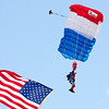 113 - Liberty Parachute Team member descends into Wings over Waukegan 2012