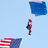 110 - Liberty Parachute Team member descends into Wings over Waukegan 2012