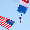 112 - Liberty Parachute Team member descends into Wings over Waukegan 2012