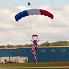 117 - Liberty Parachute Team member descends into Wings over Waukegan 2012