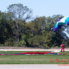 105 - Members of the Liberty Parachute Club drop into the South East Iowa Air Show in Burlington Iowa