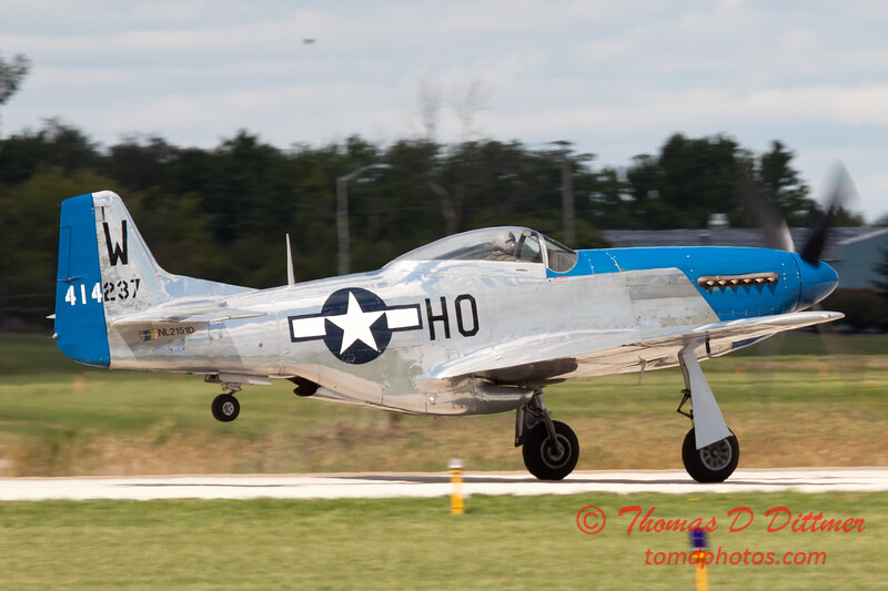 760 - Vlado Lenoch in his P-51 Mustang departs Wings over Waukegan 2012