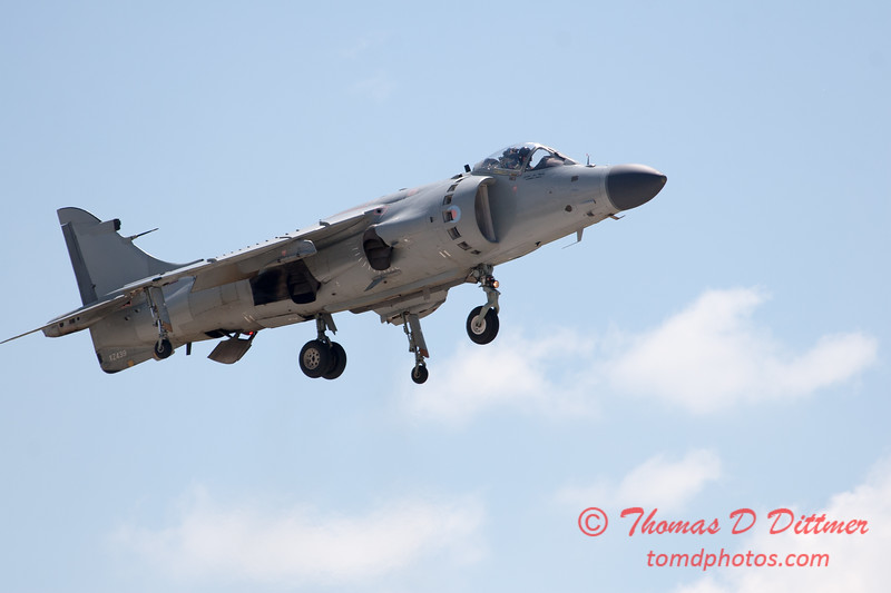 372 -  Art Nalls demonstrates the capabilities of the F/A 2 Sea Harrier at the 2012 Rockford Airfest - Chicago Rockford International Airport - Rockford Illinois - Sunday June 3rd 2012