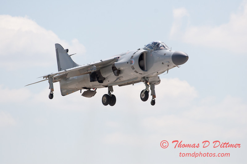 407 -  Art Nalls demonstrates the capabilities of the F/A 2 Sea Harrier at the 2012 Rockford Airfest - Chicago Rockford International Airport - Rockford Illinois - Sunday June 3rd 2012