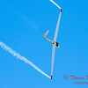 824 - Bob Carlton in his Jet powered Sailplane perform at the South East Iowa Air Show in Burlington Iowa