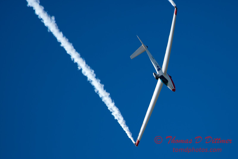 738 - Bob Carlton in his Jet powered Sailplane perform at the South East Iowa Air Show in Burlington Iowa