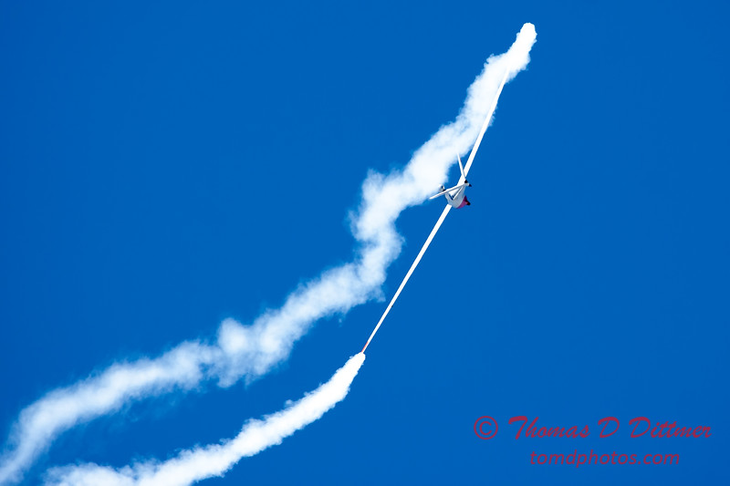 741 - Bob Carlton in his Jet powered Sailplane perform at the South East Iowa Air Show in Burlington Iowa